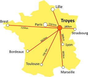 troyes carte de france